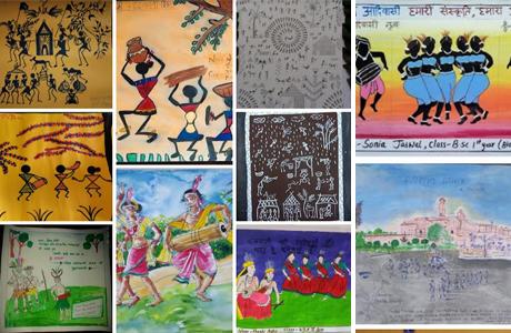 आदिवासी दिवस पर पोस्टर प्रतियोगिता का आयोजन