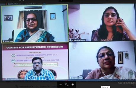 Breast Feeding Week webinar at Hemchand Yadav University